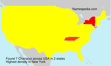 Surname Chanaoui in USA