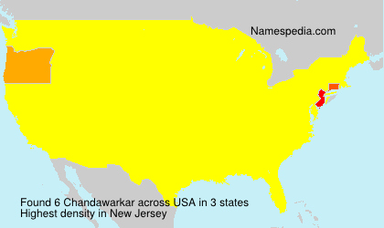 Surname Chandawarkar in USA