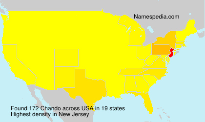 Surname Chando in USA