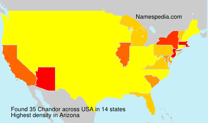 Surname Chandor in USA