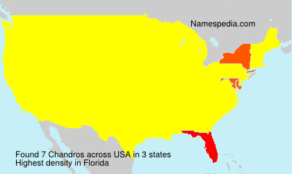 Surname Chandros in USA