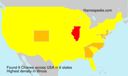 Surname Chanee in USA