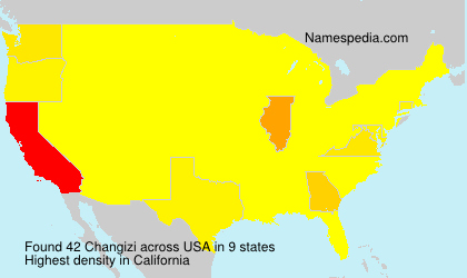 Surname Changizi in USA