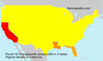 Surname Changkachith in USA