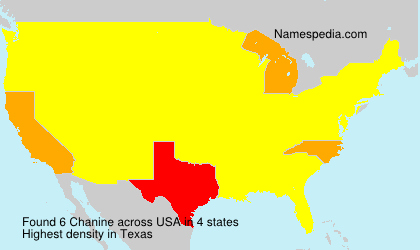 Surname Chanine in USA