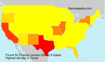 Surname Chankin in USA