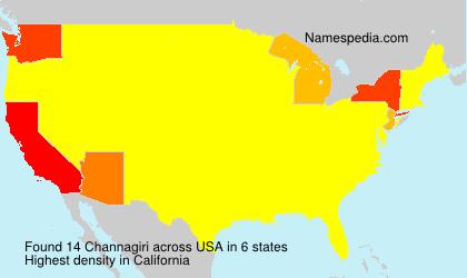 Surname Channagiri in USA