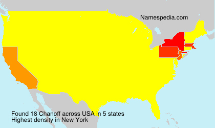 Familiennamen Chanoff - USA