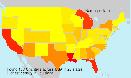 Familiennamen Chantelle - USA
