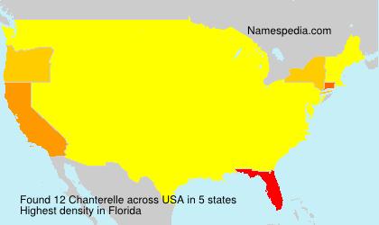 Surname Chanterelle in USA