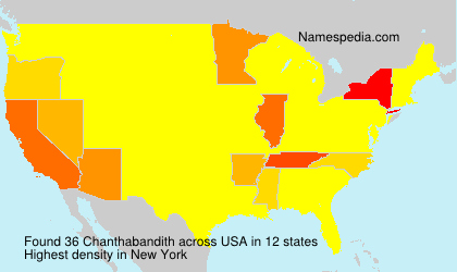 Surname Chanthabandith in USA