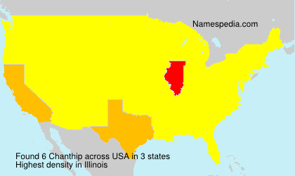 Surname Chanthip in USA