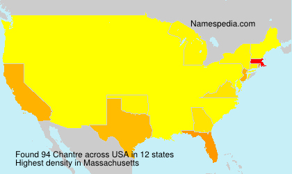 Surname Chantre in USA