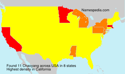 Surname Chaoyang in USA