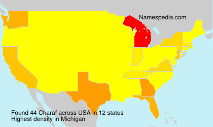 Surname Charaf in USA
