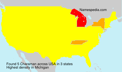 Surname Charaman in USA