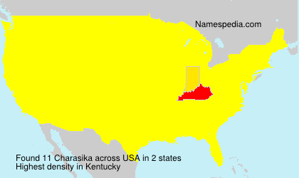 Surname Charasika in USA