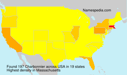 Surname Charbonnier in USA