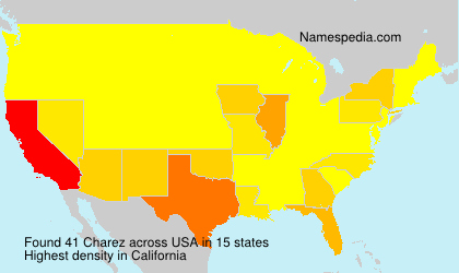 Surname Charez in USA
