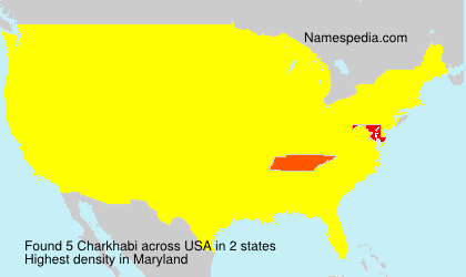 Surname Charkhabi in USA