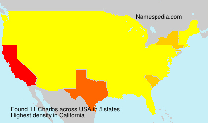 Surname Charlos in USA