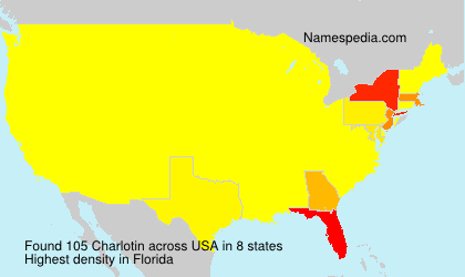 Surname Charlotin in USA