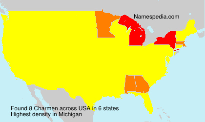 Surname Charmen in USA
