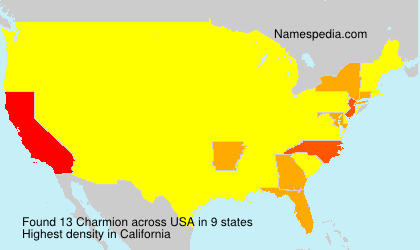 Surname Charmion in USA