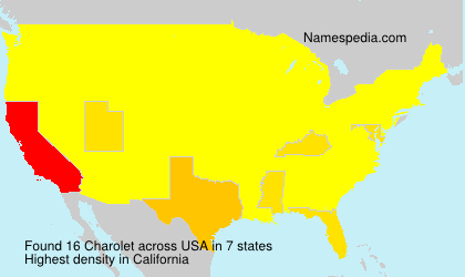 Surname Charolet in USA