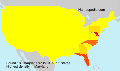 Surname Charpiat in USA