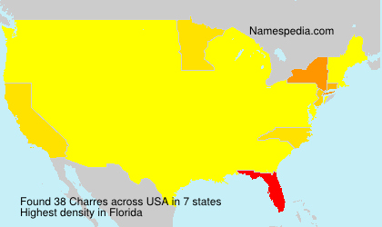 Surname Charres in USA