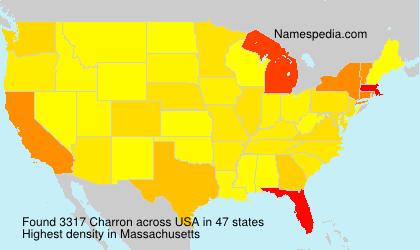 Surname Charron in USA