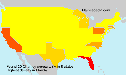 Surname Chartley in USA
