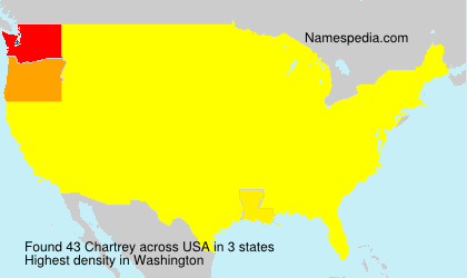 Surname Chartrey in USA