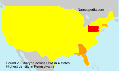 Surname Charyna in USA