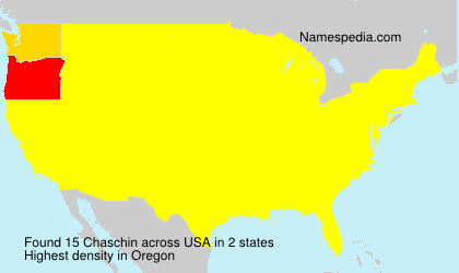 Surname Chaschin in USA