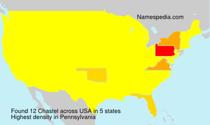 Surname Chastel in USA