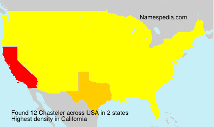 Surname Chasteler in USA