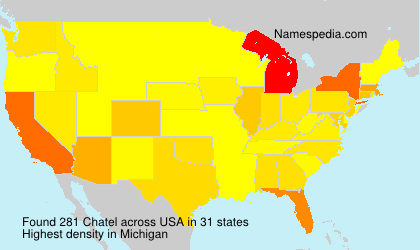 Familiennamen Chatel - USA