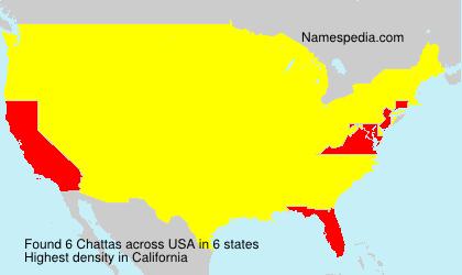 Familiennamen Chattas - USA