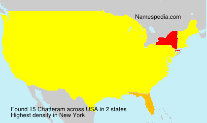 Surname Chatteram in USA