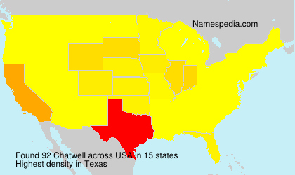 Surname Chatwell in USA