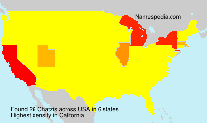 Surname Chatzis in USA