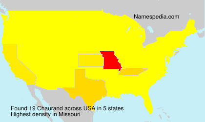 Surname Chaurand in USA