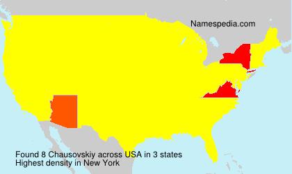 Surname Chausovskiy in USA