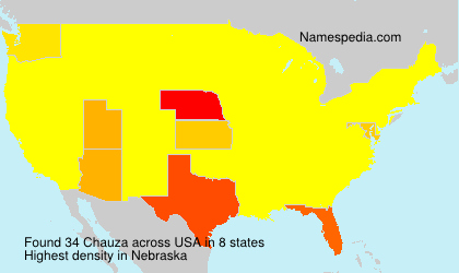 Surname Chauza in USA