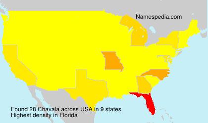 Familiennamen Chavala - USA