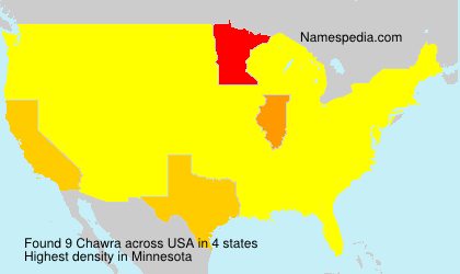 Surname Chawra in USA