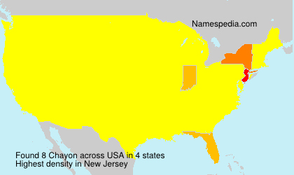 Surname Chayon in USA
