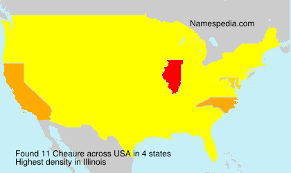 Surname Cheaure in USA